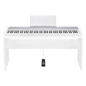 Korg B1 Digital Piano Wooden Stand Package White