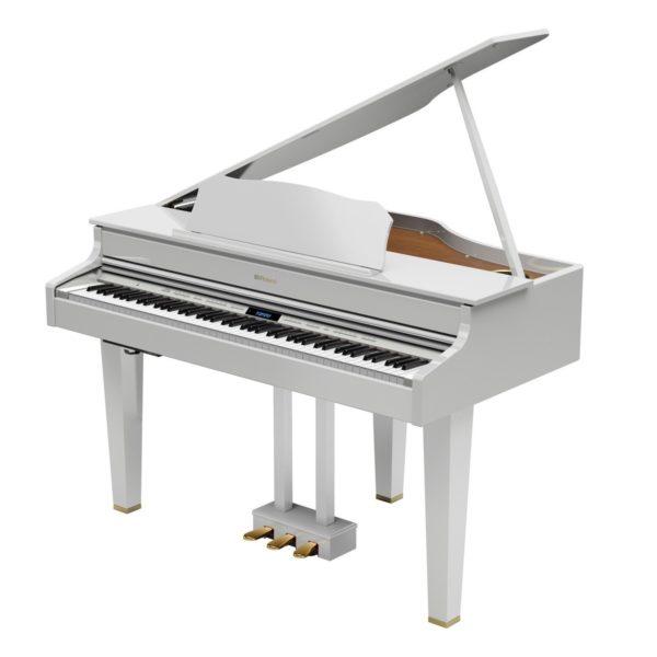 Roland GP607 Digital Grand Piano Polished White