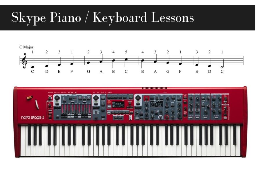 Skype Piano Keyboard Lessons
