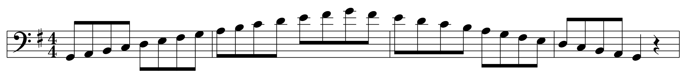 G Major Scale Left Hand