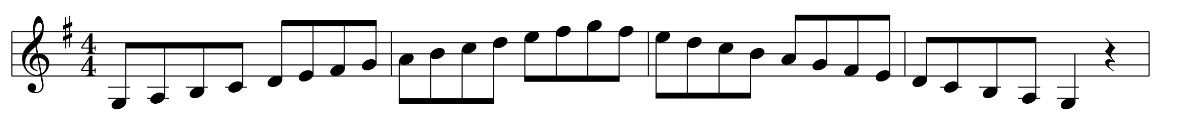 G Major Scale Right Hand