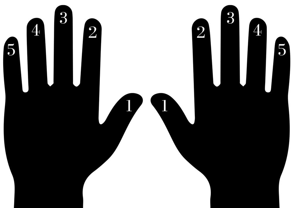 Finger Numbering