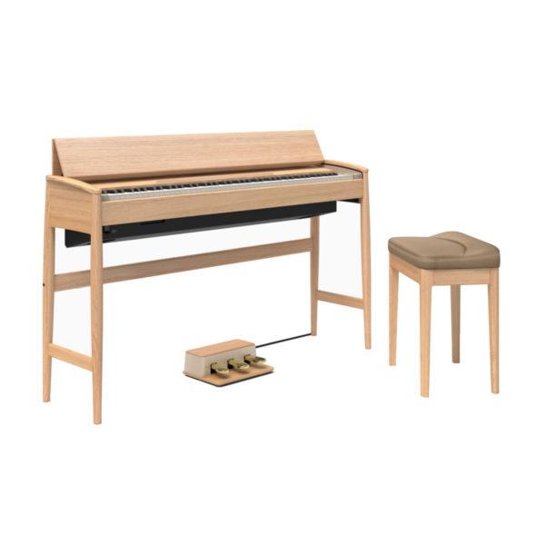Roland Kiyola KF-10 Digital Piano with Stool Pure Oak